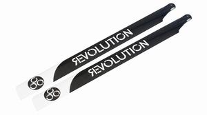 710mm FBL 3D Carbon Main Blades by Revolution RVOB071050