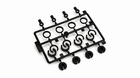 Shock End, Spring Cup, Spring Clip Set: All ECX 1/10 2WD